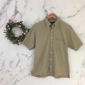 Burberry London Men Short Sleeve Button Down Shirt